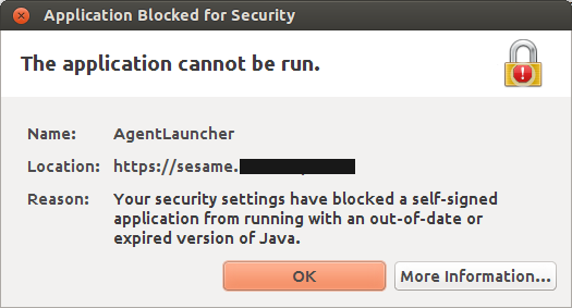 java blocking self signed application